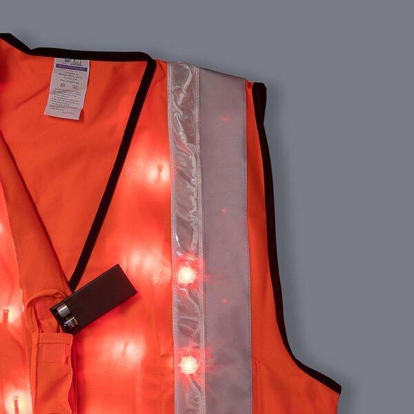 Roobuck safety vest RLVA orange details lighting