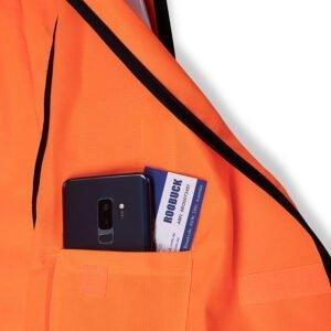 Roobuck safety vest RLVA orange details
