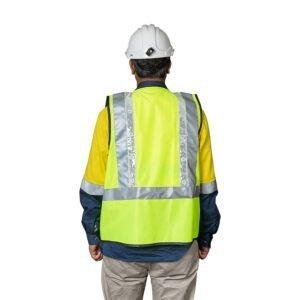 Roobuck safety vest RLVA green back