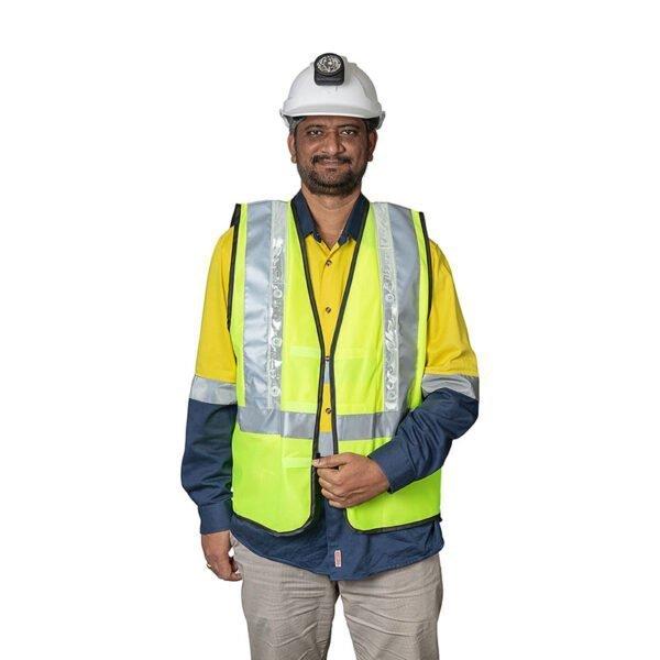 Roobuck safety vest RLVA green details1